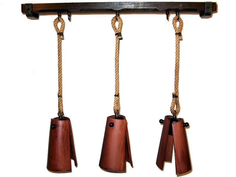 L mpara techo 3 luz madera tejas nogal rustiluz - Lamparas rusticas de madera ...