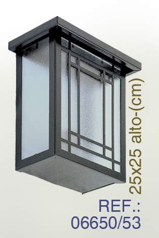 Wall lantern of forging and glass. Mod 6650