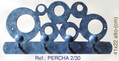 PERCHA DE PARED DE FORJA