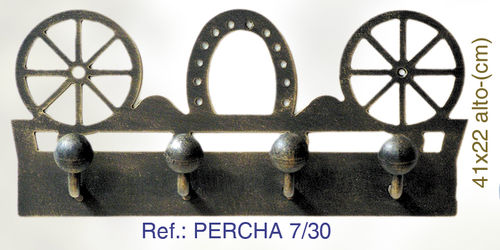 PERCHA DE PARED RUEDAS Y HERRADURA PERCHA7