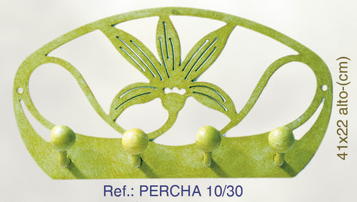 PERCHA DE PARED FLOR PERCHA10