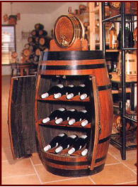 Mueble bar tipo barril rustiluz for Muebles tipo bar en madera