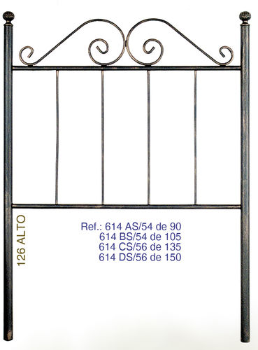 Wrought iron headboards  Mod.614S