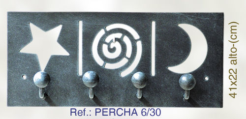 PERCHA DE PARED ESTRELLA Y LUNA PERCHA6