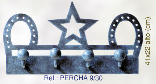 PERCHA DE PARED HERRADURA Y ESTRELLA PERCHA9