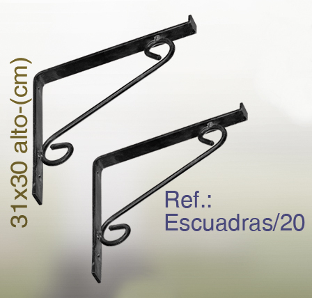 Estanter as de forja librer as con baldas y cristal - Escuadras para estantes ...